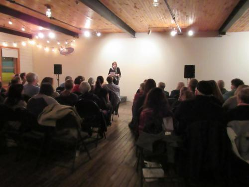 Christine Hennebury hosting at the Rocket Room, Rocket Bakery, 2016