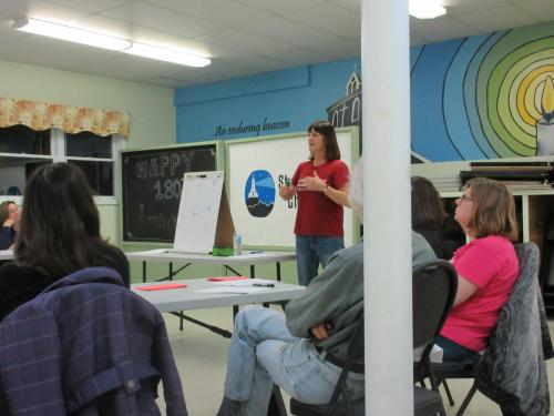 Kathy Jessup leads a workshop, 2016