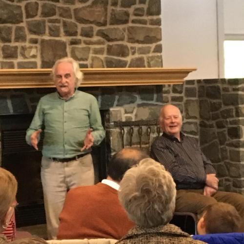Jack Lynch and Len Graham at The Fluvarium, 2017