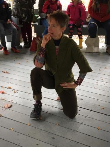 Louise Moyes performs at the Story Walk, MUN Botanical Gardens, 2017