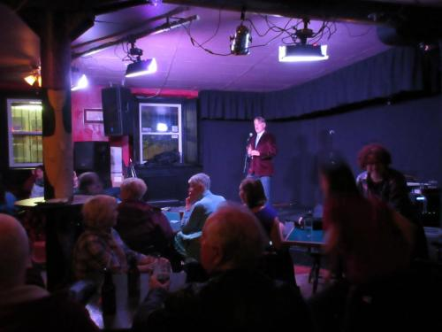Dale Jarvis tells a spooky tale at The Ship Pub, 2016